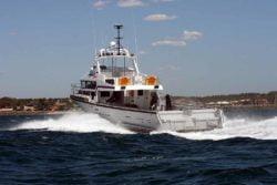 Multipurpose vessel stern view