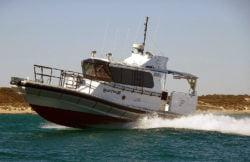 Optimus 1000 pilot / crew transfer / survey RIB