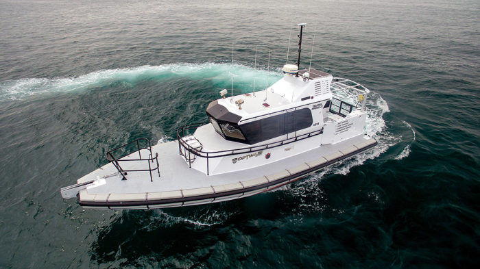 Optimus 1000 pilot / crew transfer / survey RIB