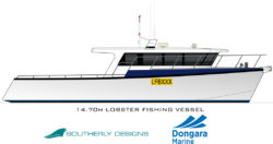 New 50 fopt / 14.7 metre lobster boat design Australia