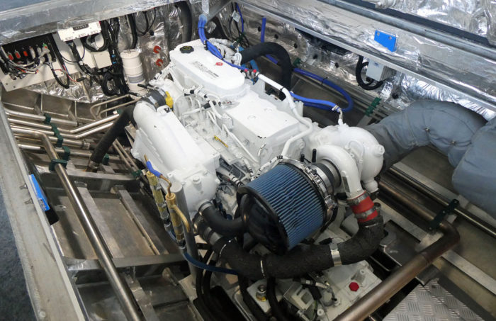 Transperth catamaran ferry Tricia main engine