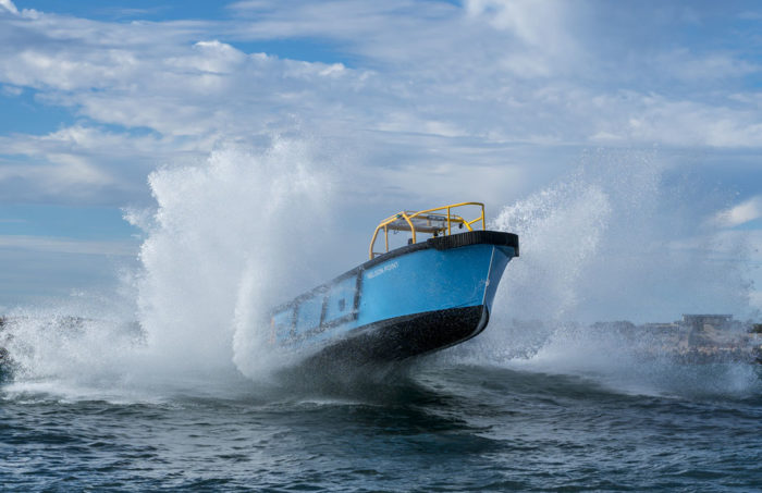Offshore capable fast new work boat / line boat Jetwave Nelson Point built by boatbuilder Dongara Marine in Western Australia